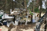 the 'bonezone' campsite was the living art installation, bones and glass/copper jewellery